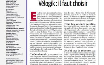 [Tribune de Lyon] Renault Trucks, Lejaby, Vélogik : il faut choisir