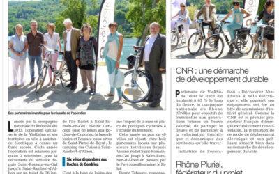 [Le Dauphiné Libéré] Découvrir la ViaRhôna à vélo électrique