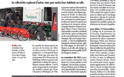 [Environnement Magazine] Mobilité: des vélos publics en quête de recettes