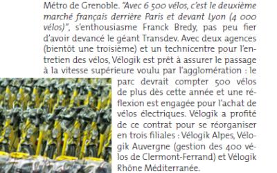 [Bref Rhône-Alpes] Vélogik roule sa bosse avec Métrovélo