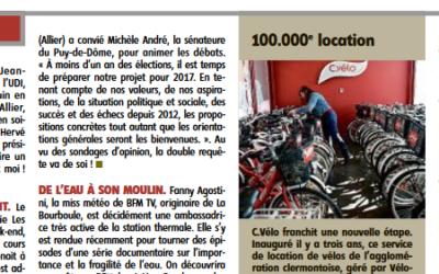 [La Montagne] C.Vélo enregistre sa 100 000e location