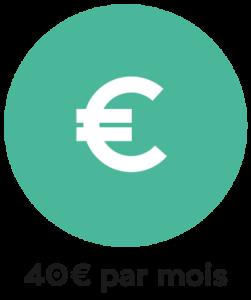 40€ par mois