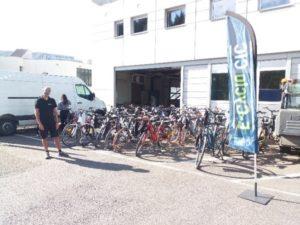 Parc de vélos montés
