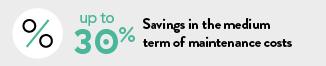 up to 30 percent savings