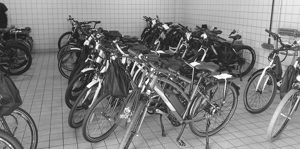 Vélos montés pour les employés du groupe bancaire