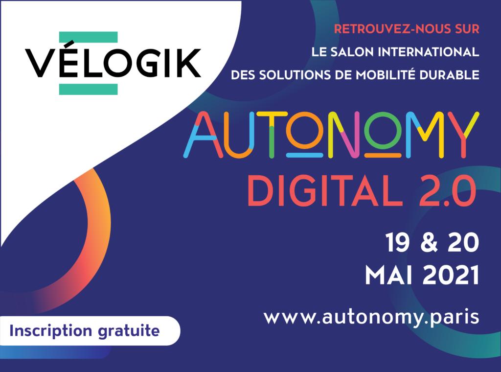 Vélogik, expert de la maintenance cycles, sera présent sur Autonomy les 19 et 20 mai 2021