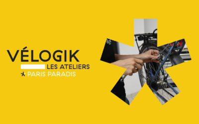 Vélogik les Ateliers ouvre un atelier à Paris, rue de Paradis